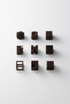 Nendo Chocolatexture line