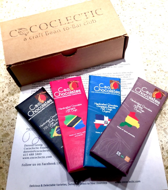 Cococlectic box with Cao Chocolates