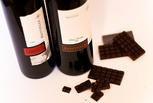 Fantelli Merlot with dark chocolate