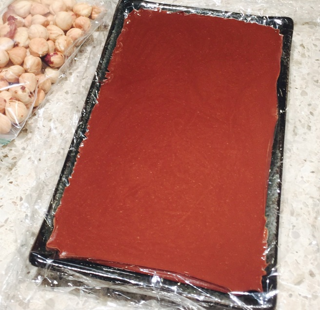 Hand made gianduja
