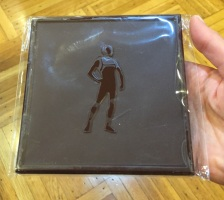 Durci chocolate bar mold with a human figure