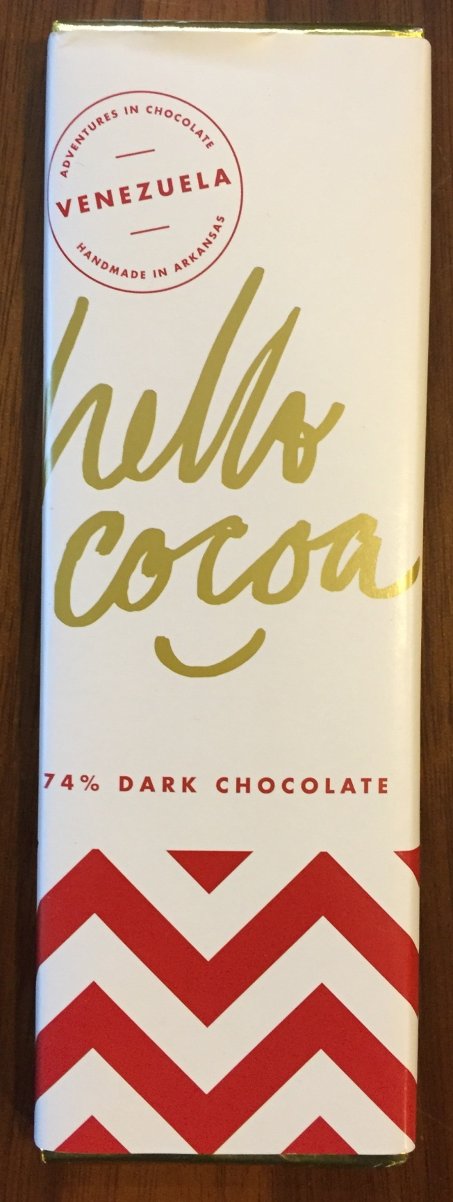 Hello Cocoa 74% Dark Chocolate Bar