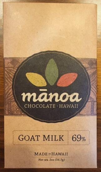Manoa 69% Goat Milk Chocolate from Hawaii