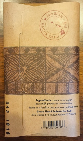 Manoa 69% Goat Milk Chocolate from Hawaii ingredients