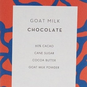 Mast Brothers Goat Milk Chocolate ingredients label
